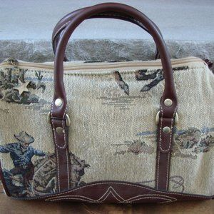 Vintage Capezio Western Cowbo  Horse Satchel Purse